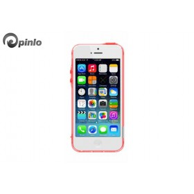 Чехол бампер Pinlo BLADEdge Aroma для iPhone 5/5S (Transparent Red Rose)