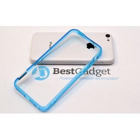 Чехол бампер Pinlo BLADEdge для iPhone 5c (Transparent Blue) + пленка