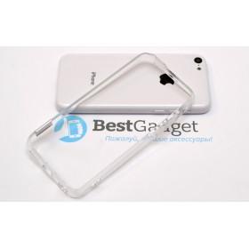 Чехол бампер Pinlo BLADEdge для iPhone 5c (Transparent) + пленка