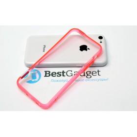Чехол бампер Pinlo BLADEdge для iPhone 5c (Transparent Red) + пленка