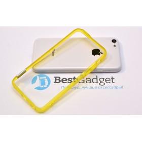 Чехол бампер Pinlo BLADEdge для iPhone 5c (Transparent Yellow) + пленка
