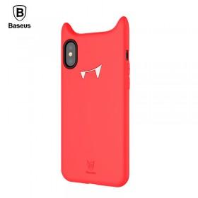 Чехол Baseus Davil Baby для iPhone X (Silicone Red)