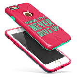Чехол Baseus Fashion style для iPhone 6 / 6S (Pink/Marine green)