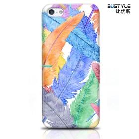 Чехол BUSTYLE для iPhone 5 / 5s (Цветные перья - SZPC-IP5-1702)