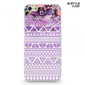 Чехол BUSTYLE для iPhone 5 / 5s (Фиолетовые цветы с узором - SZPC-IP5-1756)