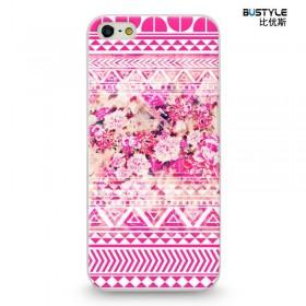 Чехол BUSTYLE для iPhone 5 / 5s (Розовые цветы с узором - SZPC-IP5-1751)