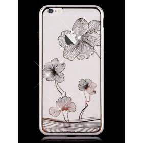 Чехол с кристалами Comma Crystal Flora 360 для iPhone 6 / 6s (Silver)