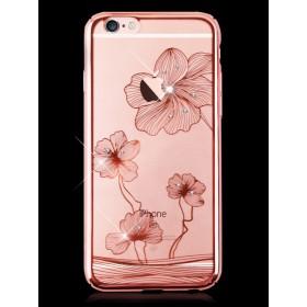 Чехол с кристалами Comma Crystal Flora 360 для iPhone Plus/ 6s Plus (Rose Gold)