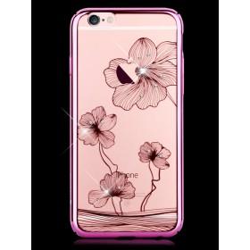 Чехол с кристалами Comma Crystal Flora 360 для iPhone Plus/ 6s Plus (Rose Pink)