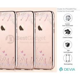 Чехол с кристалами Devia Crystal engaging для iPhone 6 / 6s (Champagne Gold)