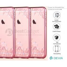 Чехол с кристалами Devia Crystal engaging для iPhone 6 / 6s (Rose Gold)