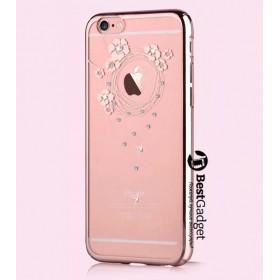 Чехол с кристалами Devia Crystal Garland для iPhone 6 / 6s (Rose Pink)