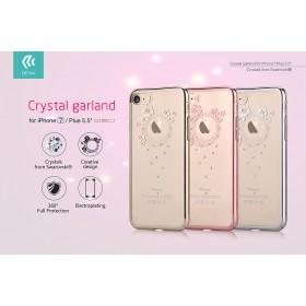 Чехол с кристалами Devia Crystal Garland для iPhone 7 | 8 (Gun Black)