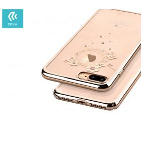 Чехол с кристалами Devia Crystal Garland для iPhone 7 Plus   8 Plus (Champagne Gold)