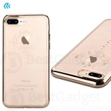 Чехол с кристалами Devia Crystal Iris soft TPU case для iPhone 7 | 8 (Champagne Gold)