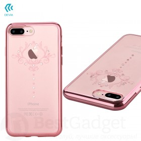 Чехол с кристалами Devia Crystal Iris soft TPU case для iPhone 7 Plus | 8 Plus (Rose Gold)