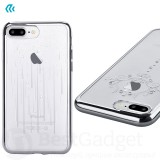 Чехол с кристалами Devia Crystal Iris soft TPU case для iPhone 7 | 8 (Silver)