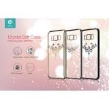 Чехол с кристалами Devia Crystal Iris soft TPU case для Samsung Galaxy S8+ (Champagne Gold)