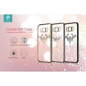 Чехол с кристалами Devia Crystal Iris soft TPU case для Samsung Galaxy S8 (Champagne Gold)