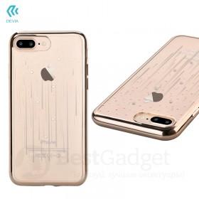 Чехол с кристалами Devia Crystal Meteor soft TPU case для iPhone 7 Plus | 8 Plus (Champagne Gold)
