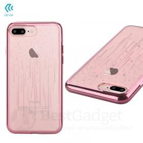 Чехол с кристалами Devia Crystal Meteor soft TPU case для iPhone 7 | 8 (Rose Gold)
