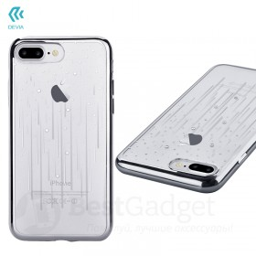Чехол с кристалами Devia Crystal Meteor soft TPU case для iPhone 7 Plus | 8 Plus (Silver)