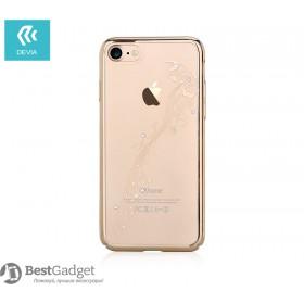 Чехол с кристалами Devia Crystal Papillon для iPhone 7 Plus | 8 Plus (Champagne Gold)