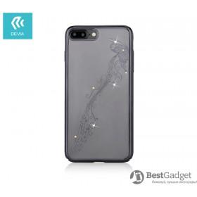 Чехол с кристалами Devia Crystal Papillon для iPhone 7 Plus | 8 Plus (Gun Metal)
