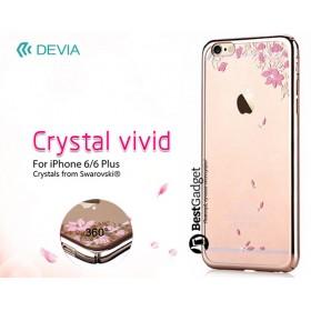Чехол с кристалами Devia Crystal vivid для iPhone 6 / 6s (Champagne Gold)