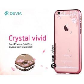Чехол с кристалами Devia Crystal vivid для iPhone 6 / 6s (Rose Gold)
