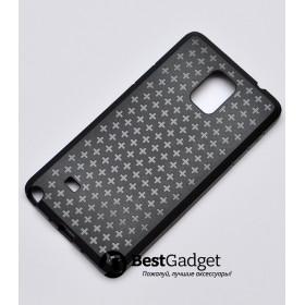 Чехол Cross Lines TPU для Samsung Galaxy Note 4 (Черный)