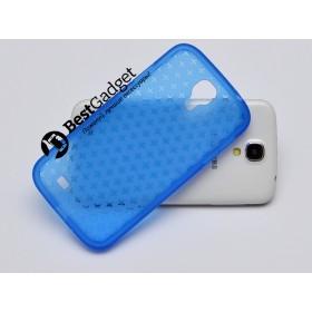 Чехол Cross Lines TPU для Samsung Galaxy S4 i9500 (Синий)
