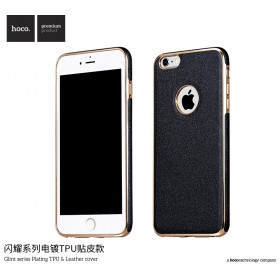 Чехол HOCO Glint Series Plating TPU + Leather для iPhone 6 / 6s (Dark Grey)