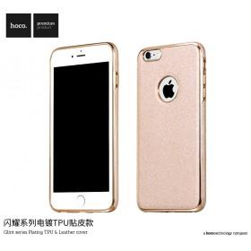 Чехол HOCO Glint Series Plating TPU + Leather для iPhone 6 / 6s (Gold)
