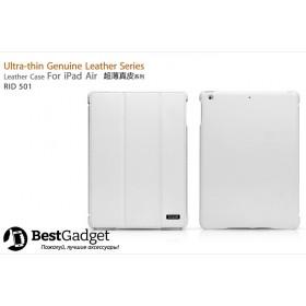 Чехол Icarer Ultra-Thin Genuine Leather Series (RID 501) для iPad Air (Белый)