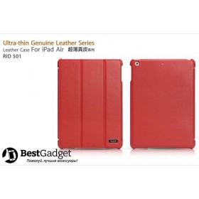 Чехол Icarer Ultra-Thin Genuine Leather Series (RID 501) для iPad Air (Красный)