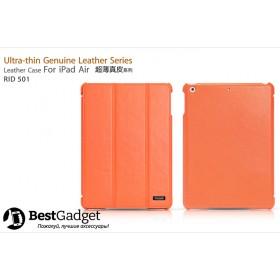 Чехол Icarer Ultra-Thin Genuine Leather Series (RID 501) для iPad Air (Оранжевый)
