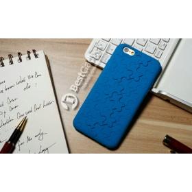 Чехол iCase 3D Silicone Puzzle для iPhone 6 (Синий Пазл)