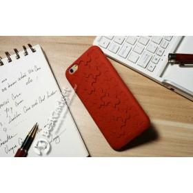 Чехол iCase 3D Silicone Puzzle для iPhone 6 (Красный Пазл)