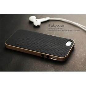 Чехол iPaky PC+TPU для iPhone 5 / 5s / SE (Gold Frame)
