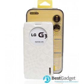 Чехол-книжка Baseus Brocade для LG G3 (Белый)