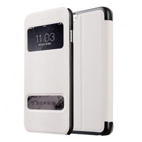 Чехол книжка с окошком Baseus Mile для iPhone 6 Plus (Белый)