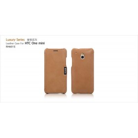 Чехол-книжка IcareR для HTC One Mini (Luxury series brown)