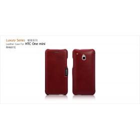 Чехол-книжка IcareR для HTC One Mini (Luxury series red)
