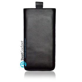 Чехол-мешочек Premium Leather SB1995 для Samsung Galaxy S6 (Черная гладкая кожа)