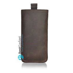 Чехол-мешочек Premium Leather SB1995 для Samsung Galaxy S6 (Коричневая кожа Crazy Horse)