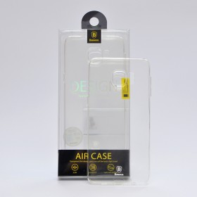 Чехол накладка Baseus Air TPU для Samsung G928 Galaxy S6 Edge Plus (Белый / Прозрачный)