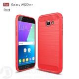 Чехол накладка Carbon Fiber TPU для Samsung Galaxy A5 2017 (A520) (Красный)
