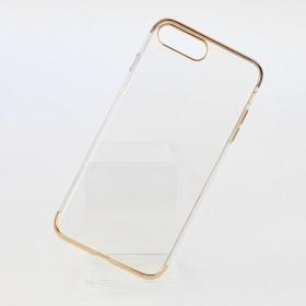 Чехол накладка Glitter Electroplated TPU Series для iPhone 8 Plus (0.8mm Gold)