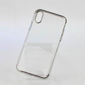 Чехол накладка Glitter Electroplated TPU Series для iPhone X (0.8mm Silver)